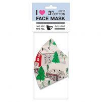 AGIVA 3-слойна памучна маска с филтър , елха, ергономична 1бр.