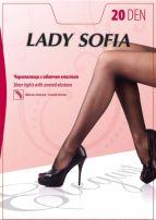 LADY SOFIA ELEGANT Чорапогащи с облечен еластан, 20 DEN с ограничител, р-р L