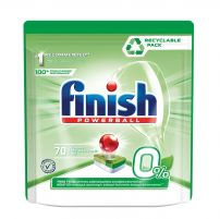 FINISH 0%  Таблетки за съдомиална, 70 бр.