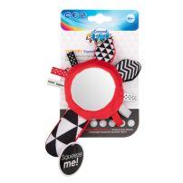 CANPOL Мека контрастна играчка със свирка и огледало 0.52