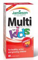 JAMIESON MULTI Мултивитамини за деца, 60 дъвчащи таблетки