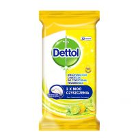 DETTOL POWER & FRESH LEMON Кърпички за дезинфекция на повърхности 32бр.