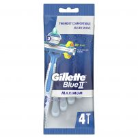 GILLETTE BLUE2 MAX Еднократна самобръсначка, 4 бр