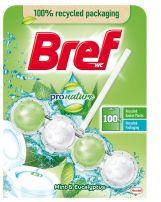 BREF Твърдо тоалетно блокче натурална мента и евкалипт, 50 гр.