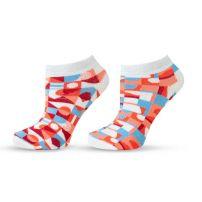 HAPPY FOOTTOPIA  Къси чорапи до глезена 78% бамбук фигури, 35-38