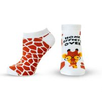 HAPPY FOOTTOPIA Къси чорапи 82% памук жираф, 39-42