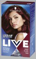 LIVE URBAN METALLICS Боя за коса U68 Ruby Glaze