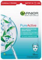 GARNIER SKIN NATURALS PURE ACTIVE Хартиена маска 28 гр