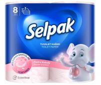 SELPAK Тоалетна хартия спа пудра 3 пластова, 8бр.