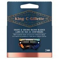 GILLETTE KING C Ножчета за бръснене, 3 бр