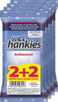 WET HANKIES CLEAN Антибактериални мокри кърпички 2+2