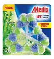 MEDIX WC Твърдо тоалетно блокче Forest Rain, 3 бр.