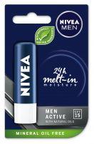 NIVEA MEN Балсам за устни Active for men 4.8, гр.
