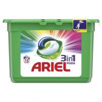 ARIEL 3IN1 Течни капсули за цветно пране, 15 бр.