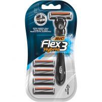 BIC Самобръсначка Flex 3 Hybrid + 4 бр. ножчета