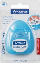 TRISA EXPERT FLOSS MINT Koнец за зъби 30 къса, за брекети, мостове, импланти и широки пространства, 1 бр.