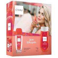 C-THRU LOVE WHISPER  Подаръчен комплект Натурален спрей, 75 мл + душ гел, 250 мл