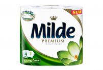 MILDE PREMIUM ULTRA SOFT Тоалетна хартия 3 пласта ENERGY GREEN, 4 бр.