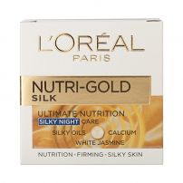 L'OREAL PARIS NUTRI GOLD ULTIMATE NUTRITION RICH NIGHT Крем за лице ALL SKIN TYPES, 50 мл.