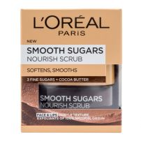 L'OREAL PARIS SMOOTH SUGARS GLOW SCRUB Ексфолиращ крем COCOA BUTTER, 50 мл.