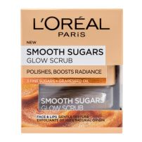 L'OREAL PARIS SMOOTH SUGARS GLOW SCRUB Ексфолиращ крем GRAPESEED OIL, 50 мл.