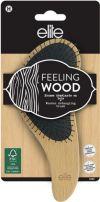 ELITE FEELING WOOD Дървена четка за коса за разресване, 1 бр.