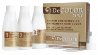 DECOLOR TIME SYSTEM FOR REMOVING PERMANENT HAIR COLOR Деколорант за коса, 3х110 мл.
