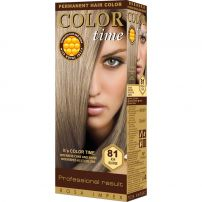 COLOR TIME PERMANENT HAIR DYE WITH ROYAL JELLY Боя за коса Ash blonde
