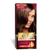 AROMA COLOR Боя за коса 4 Светъл кестен, 45 мл.