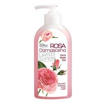 BILKA ROSA DAMASCENA Гел за измиване на лице с органична розова вода, 200 мл