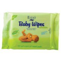 ЕVENT Бебешки мокри кърпички с алое вера, 20 бр