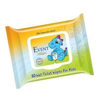 EVENT Влажни мокри кърпи за деца WC, 60 бр.