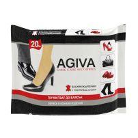 AGIVA Мокри кърпички за почистване на обувки, 2*20 бр.