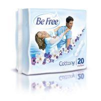 BE FREE COTTONY Ежедневни индивидуално опаковани превръзки, 20 бр.
