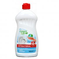 GREEN LIFE ANTIBACTERIAL CLASSIC Препарат за миене на съдове PURE SENSITIVE TOUCH, 500 мл.