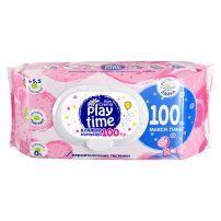 BABY CREMA PLAY TIME Мокри кърпички с лайка, 100 бр.