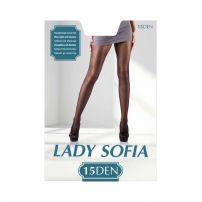 LADY SOFIA Чорапогащи с еластан 15 DEN 3, карамел