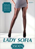 LADY SOFIA Чорапогащи с еластан 15 DEN 5, сахар