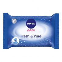 NIVEA BABY FRESH & PURE Кърпички с лосион, 63 бр