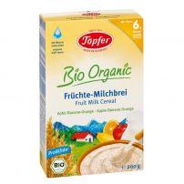 LACTANA BIO Млечна био каша с ябълка, банан и портокал от 6+ месеца, 200 гр