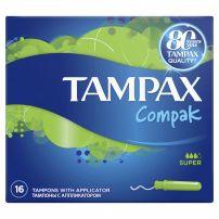 TAMPAX COMPAK Тампони супер, 16 бр.