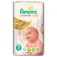 PAMPERS PREMIUM CARE Бебешки пелени Midi размер 3, 5-9 кг., 60 бр.