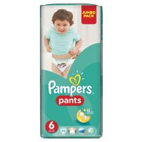 PAMPERS PANTS JUMBO PACK Памперс гащички екстра лардж размер 6, 44 бр.