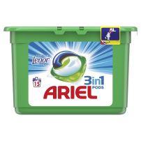 ARIEL 3IN1 Течни капсули с докосване на ленор, 15 бр.