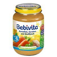 BEBIVITA Пюре картофи, моркови и телешко месо 1036, 190 гр