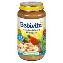 BEBIVITA Пюре зеленчуци с ориз и телешко месо 1058, 250 гр