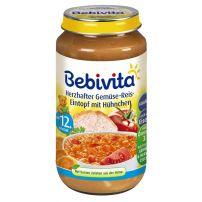BEBIVITA Пюре зеленчуци с ориз и пилешко месо 1051, 250гр