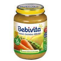 BEBIVITA Пюре различни зеленчуци 1011, 190 гр