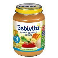 BEBIVITA Пюре спагети със зеленчуци и пуешко месо 1034, 190 гр