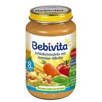 BEBIVITA Пюре паста с шунка и зеленчуци 1042, 220 гр